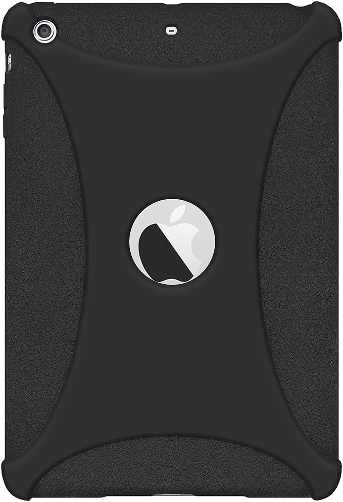 Amzer Silicone Jelly Skin Fit Case Cover for iPad Mini 3, Black (AMZ97461)