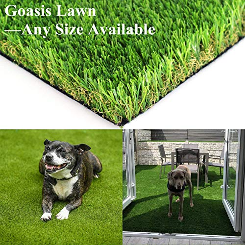 Realistic Artificial Grass Turf - 3FTX6FT(18 Square FT) Indoor Outdoor Garden Lawn Landscape Synthetic Grass Mat