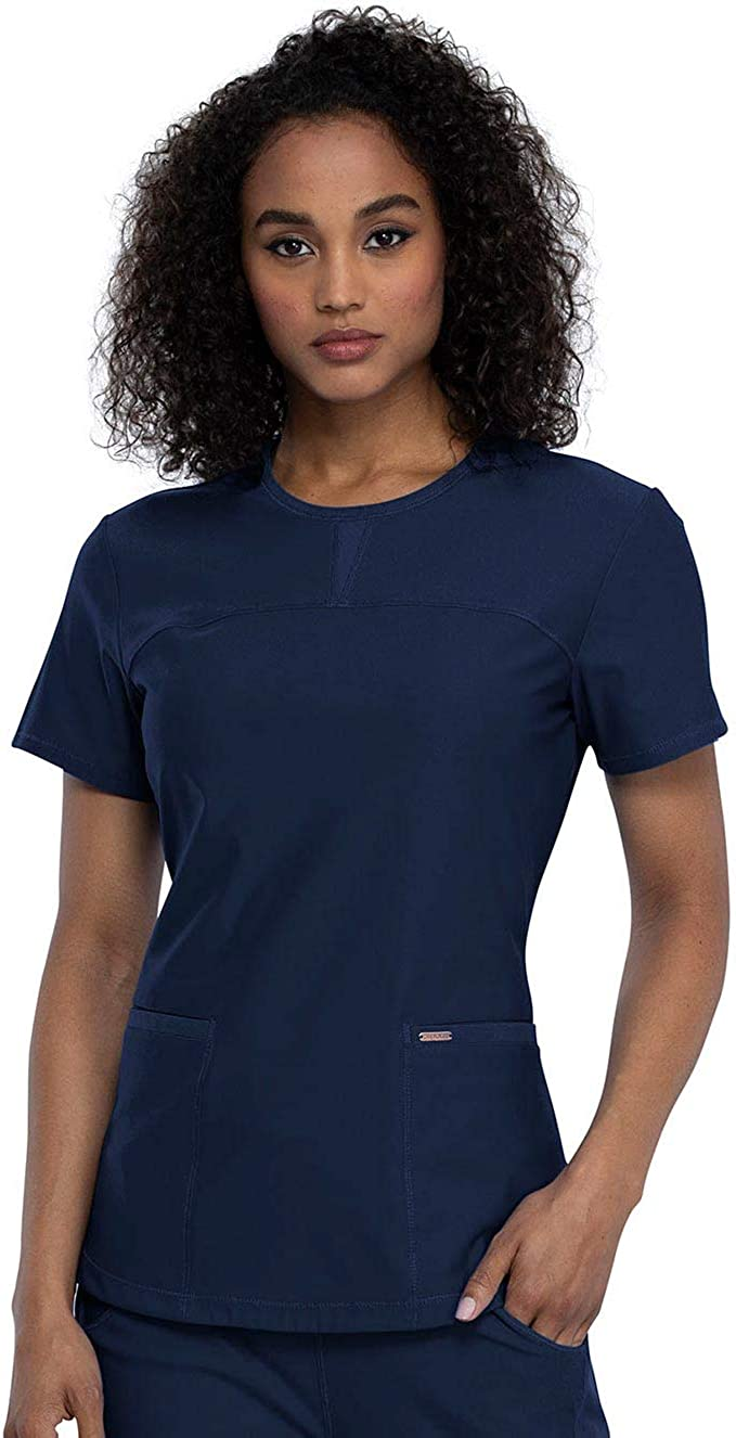 Limited Special Max 62% OFF Price Cherokee Form CK841 Women's Top Round Neck