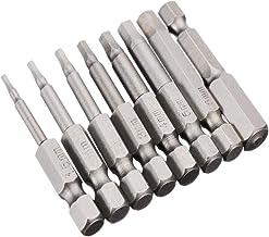 Bestgle 8 piezas destornillador allen 50mm destornillador hexagonal Magnetic tornillos cabeza de taladro Acero duradero S2 Cabeza de broca magnética