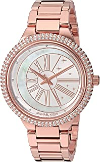 Women's Taryn Analog-Quartz Watch with Stainless-Steel Strap, Rose Gold, 18 (Model: MK6551)