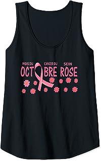Femme Octobre Rose Ruban Rose Cancer Du Sein Débardeur
