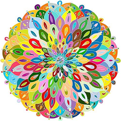 1000 Piezas Redondo Puzzle Arcoiris, Puzzle Creativo para Niños y Adultos, Decoración Hogareña