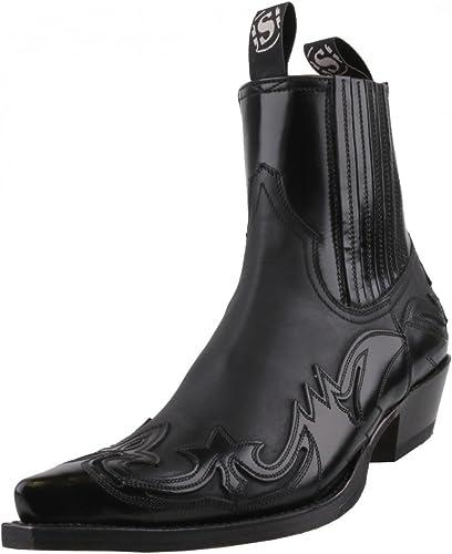 Sendra Stiefel - Stiefel de Cuero para Hombre schwarz schwarz