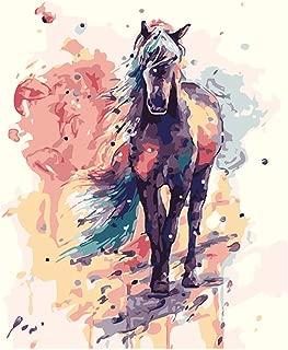 WAITATA Paint Press Digital Set Paint Process Acrylic DIY Oil Painting Children and Adult Beginner Animal Canvas (20