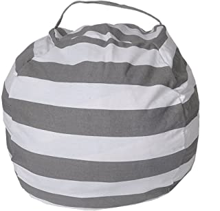 vap26 Canvas Toy Storage Bag  Children s Play Toys Storage Bag Portable inch Kids Playbag Toys Organizer Quick Pouch for Storing Plush Toys  Clothing  Blankets Gray