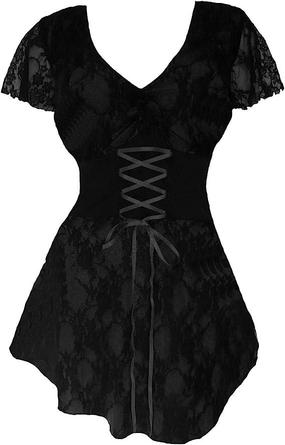 Plus Size Gothic Victorian Corset Style Top