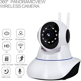 1080p Pan/Tilt 360° Panoramic Wireless WiFi IP Camera, CTVISON Smart Security Home Camera