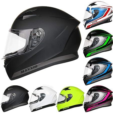 LEOPARD LEO-813 Full Face Motorcycle Motorbike Helmet Bike Crash Pink Black