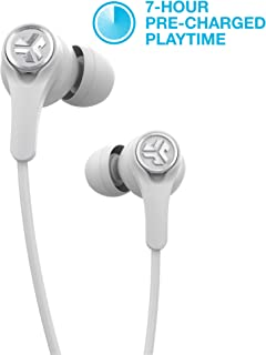 JLab Audio Epic Executive Wireless Active Noise Canceling Earbuds   Bluetooth 4.1   11-Hour Battery Life   Universal Music Control   Bluetooth Headphones, Travel Case Included   White