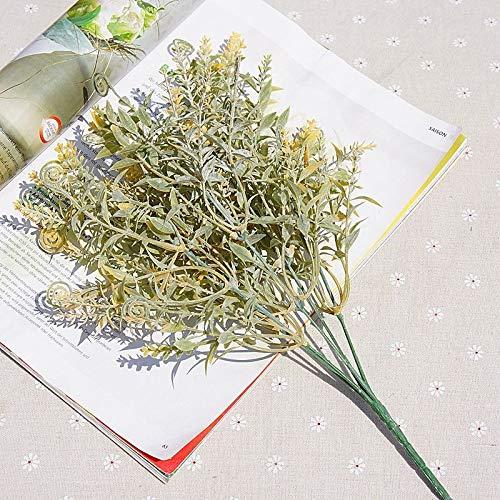 SSSSY 5 vork plus poeder hippocampus kunstmatige bloemen voor decoratie ornamenten huwelijksfotografie handmatige doe-het-zelf vazen voor stofblad