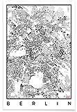 JUNIQE® Stadtpläne Berlin Poster 20x30cm - Design