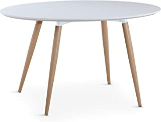 INTENSEDECO Table Ovale scandinave Lunea Blanc