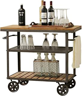 vintage wrought iron tea cart