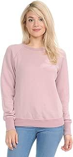 YURO-K Women's Premium Long Sleeve Crew Neck Vintage Raglan Sweatshirt Pullover X-Small - X-Large