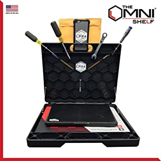 The OmniShelf New Magnetic Utility Shelf, Briefcase, Portable Desk Comes with Industrial Strength Magnets and Suction Cups Perfect for Numerous Occupations Made in the USA