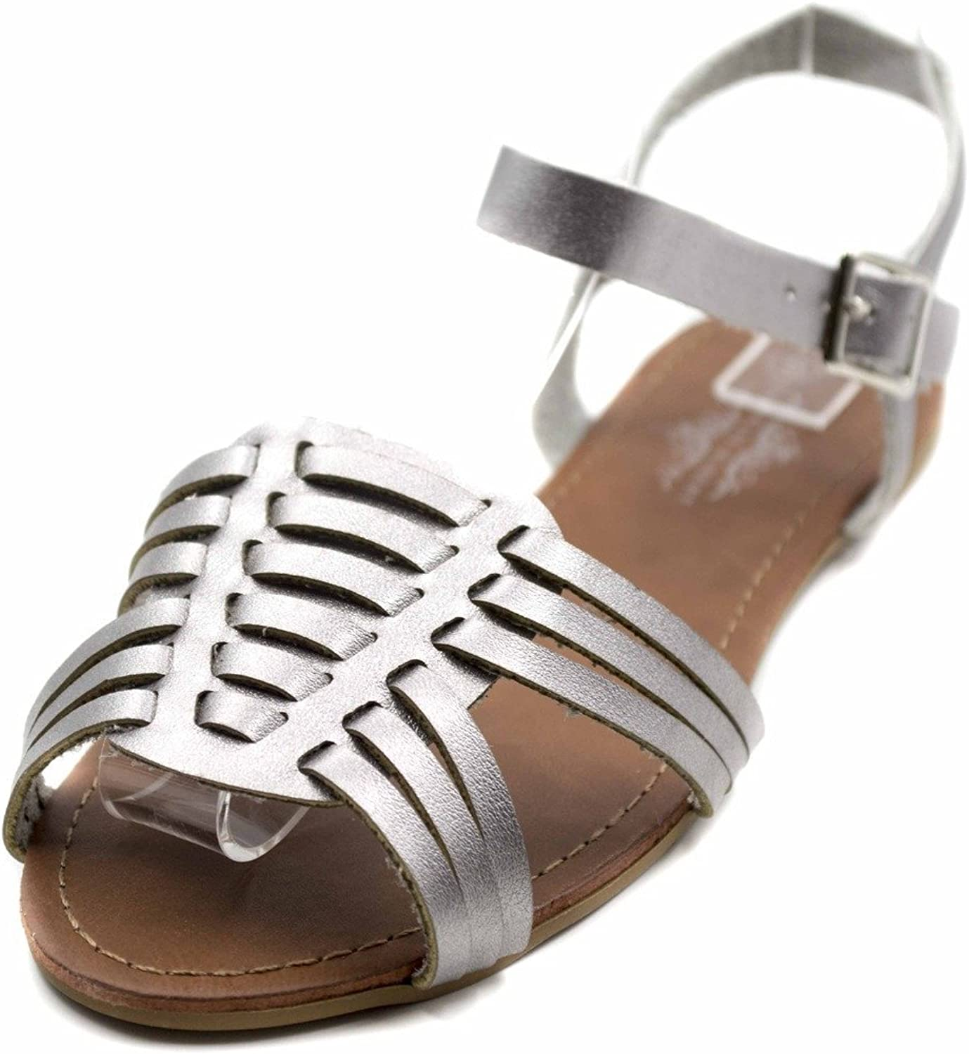 Orly shoes Charles Albert Women's Strappy Hurrache Cut Out Fisherman Sandal w Ankle Strap