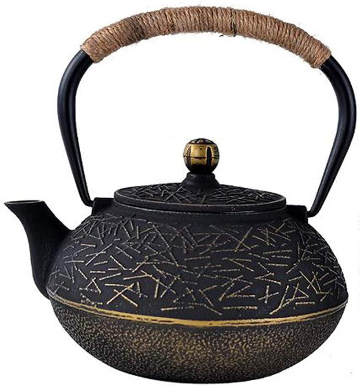 TongN Bouilloire de théière en fonte de style japonais avec poignée, 30 oz   0,9 litre, bronze