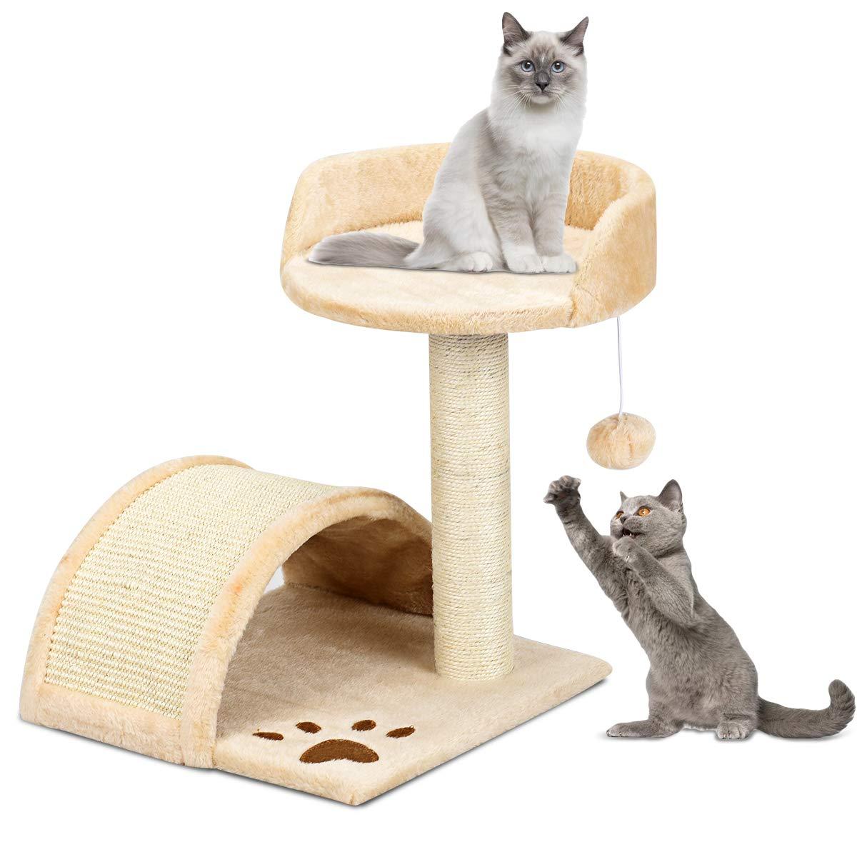 Costway - Árbol rascador para gatos con centro de actividades, escalera para animales y gatos, 35,5 x 35,5 x 44 cm: Amazon.es: Productos para mascotas