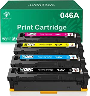 GREENSKY Compatible Toner Cartridge Replacment for Canon 046A 046H CRG 046 046H for Canon Color ImageCLASS MF735Cdw LBP654Cdw MF731Cdw MF733Cdw Laser Printer