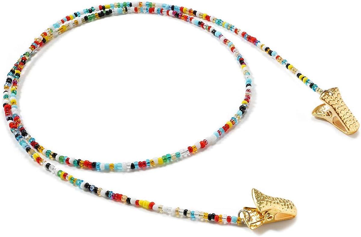 Eyeglass Chains Beaded Eyeglass Strap Holder Glasses Necklace Strap Eye Glass String for Women