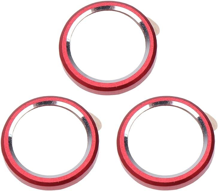 UKCOCO 3 Piezas Protector de Lente de Cámara Compatible para iPhone XR - Funda Protectora de Lente de Metal Funda Protectora de Lente de cámara Trasera Círculo Protector (Rojo)