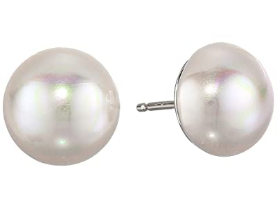 Majorica 10 mm Mabe Pearl Earrings (White) Earring