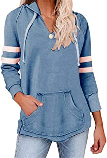 Women's Long Sleeve Hoodie Casual Sports Top with Pockets
