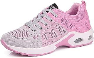 ZLYZS Zapatillas de Correr para Mujer, Zapatillas de Deporte de Malla de Punto Zapatillas de Deporte con amortiguación de ...