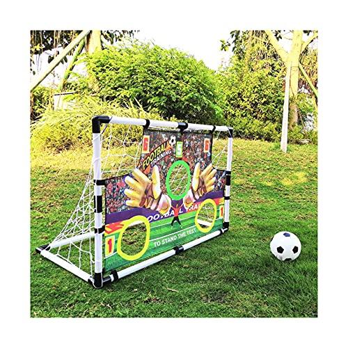 DTKJ Portería de fútbol al aire libre para niños, plegable y portátil puntuación de portería de fútbol de tela, juguetes interactivos al aire libre para padres e hijos
