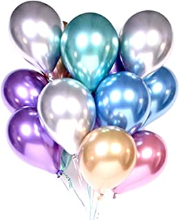 HOUZE LS-9488 Balloons (Set of 10) - Mixed Chrome
