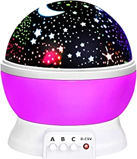 ATOPDREAM Toys for 7-8 Year Old Boys Girls, Wonderful Quiet Rotating Starlight Toys for 2-10 Year Old Girls Romantic Gifts for 2-10 Year Old Boys Stocking Stuffers Stocking Fillers Purple TSUSXK002
