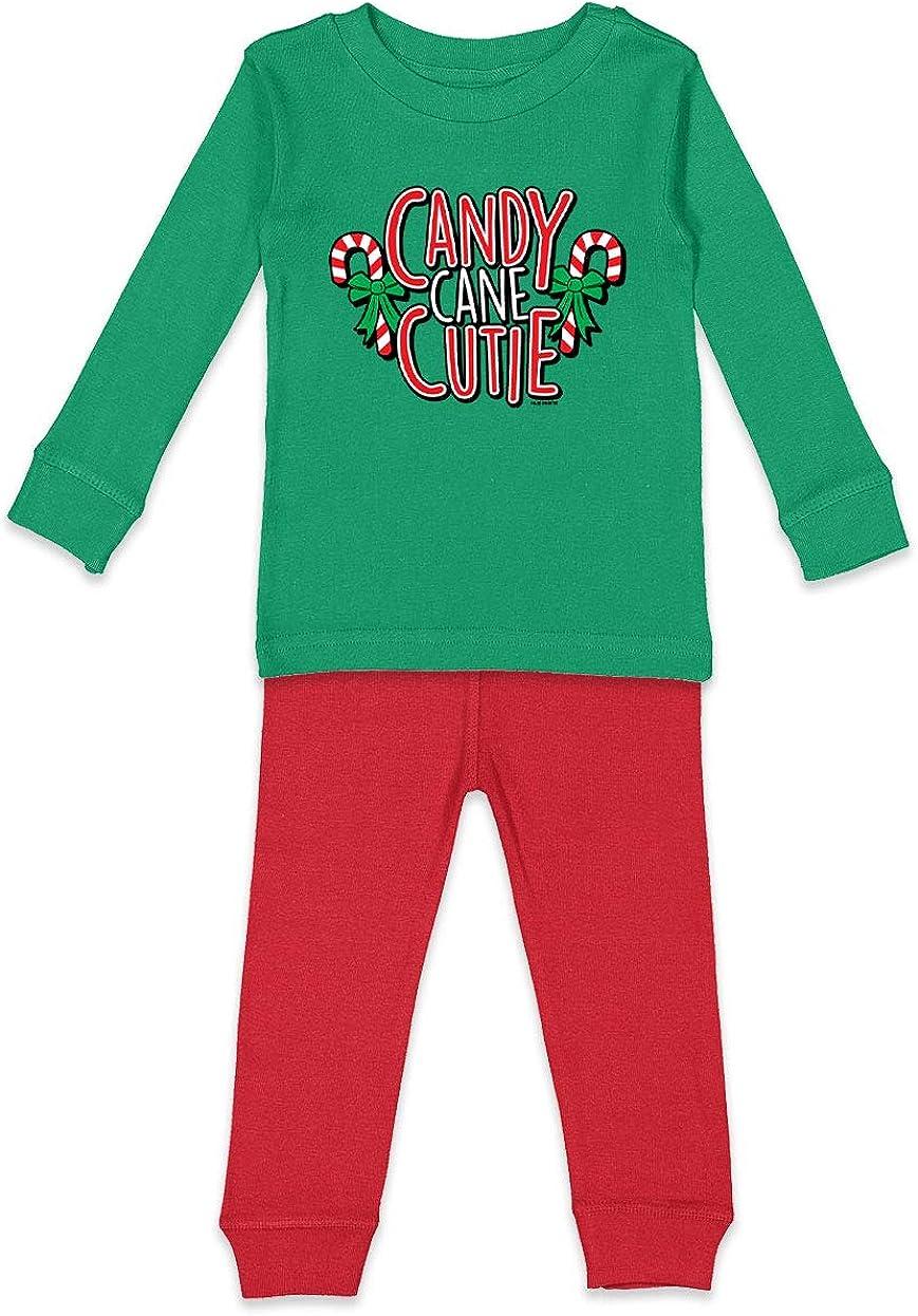 Xmas Adorable Christmas Holiday Toddler Pajama Set Candy Cane Cutie