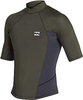 Billabong Mens 2mm Furnace Absolute Comp SS Short Sleeve Neo Coat Jacket Black Olive