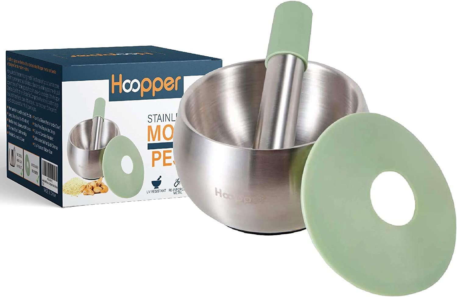 Hoopper Stainless Steel Mortar and Spice Pestle Pill Gri latest Crusher Boston Mall
