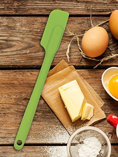 Mrs. Anderson's Baking Slim Spatula, Heat-Resistant Flexible Nonstick Silicone, 10-Inches, Kiwi