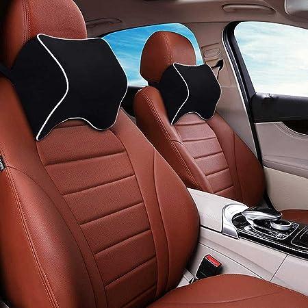 OBLIQ Memory Foam Car Headrest Cushion, Neck Rest Seat Pillow for Pain Relief, Ergonomic Cervical Support for All Cars (Black)