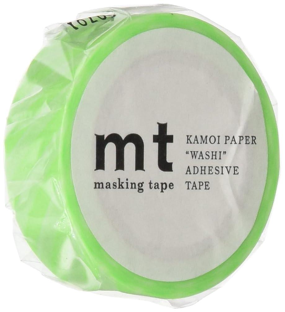 MT Washi Masking Tape, 1P Deco, 15mm x 10m, Stripe Shocking Green (MT01D250)