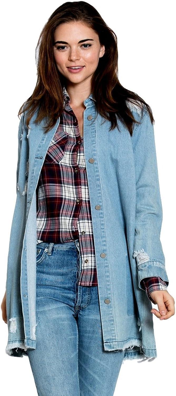 En Creme Women's bluee Jean Denim Jacket for Women