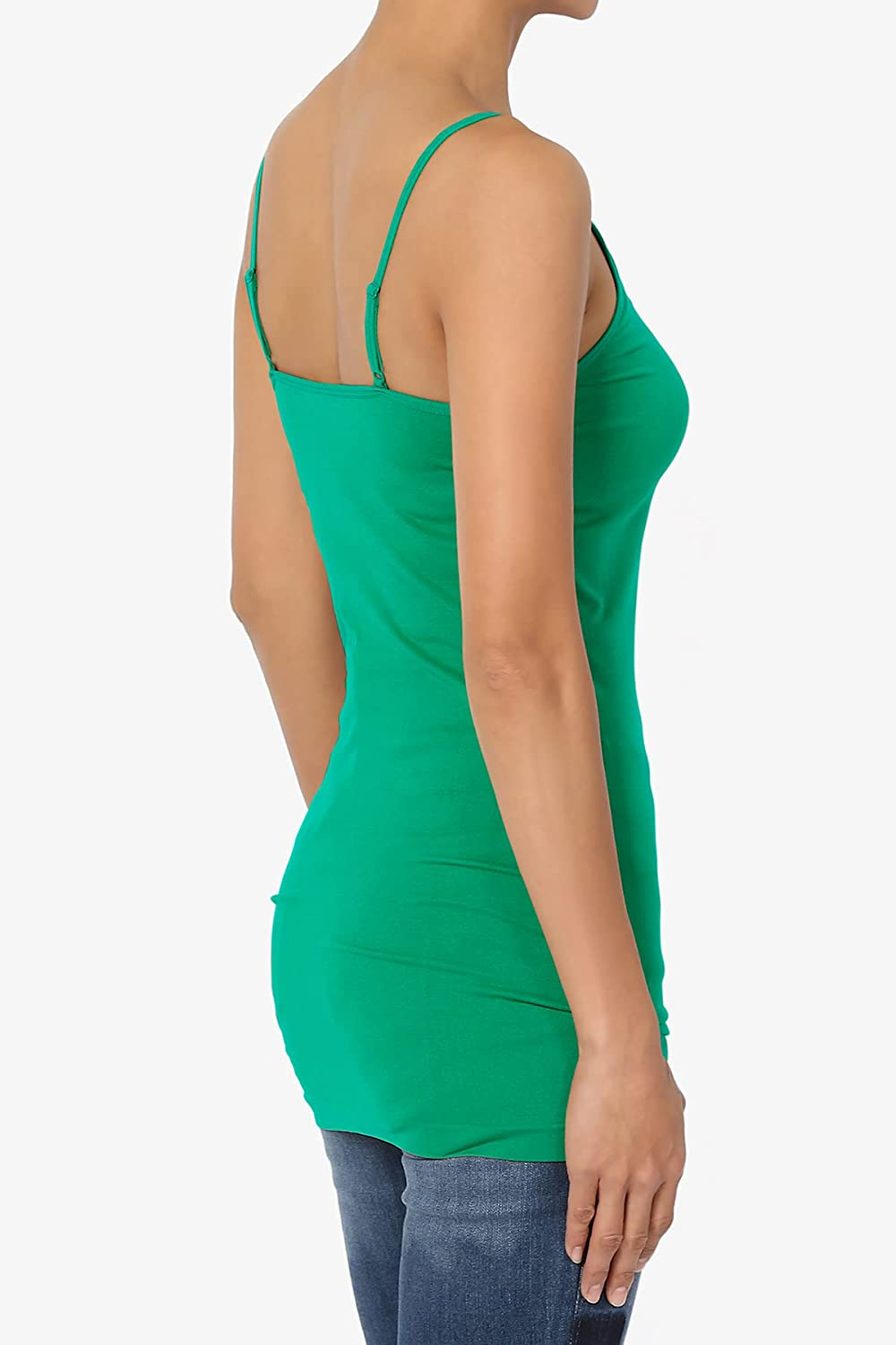 TheMogan S~3X Womens Basic Criss Cross Strappy V-Neck Long Tank Top Caged Cami