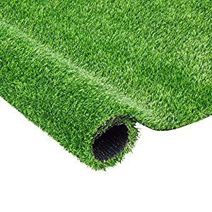 VIVOSUN Thick Artificial Grass Rug with Drainage Holes,Synthetic Turf for Pets,Dogs,Outdoor/Indoor Landscape,Non Toxic for Pet, 4 x 7 ft