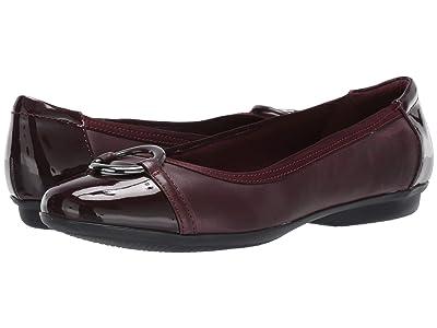 Clarks Gracelin Wind (Burgundy Leather/Synthetic) Women
