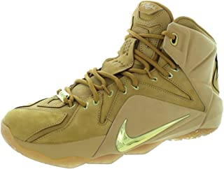 6ae4e0f8259 Nike Men s Lebron XII Ext Qs Wheat Metallic Gold Wheat Basketball Shoe 11  Men US