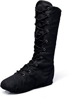 MSMAX Adult Dance Boot Lace up Ballet Jazz Sneakers