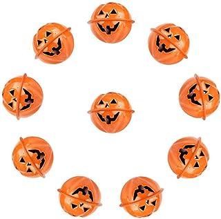 YUESUO 10pcs/Pack Pumpkin Head Bells Halloween Decorations, 40mm Creative DIY Masquerade Pumpkin Copper Bell Jingle Bells ...