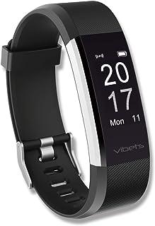 Vibets Pulse Pulseira Inteligente, Fitness Tracker, Contador de Passos & Monitor Cardíaco.