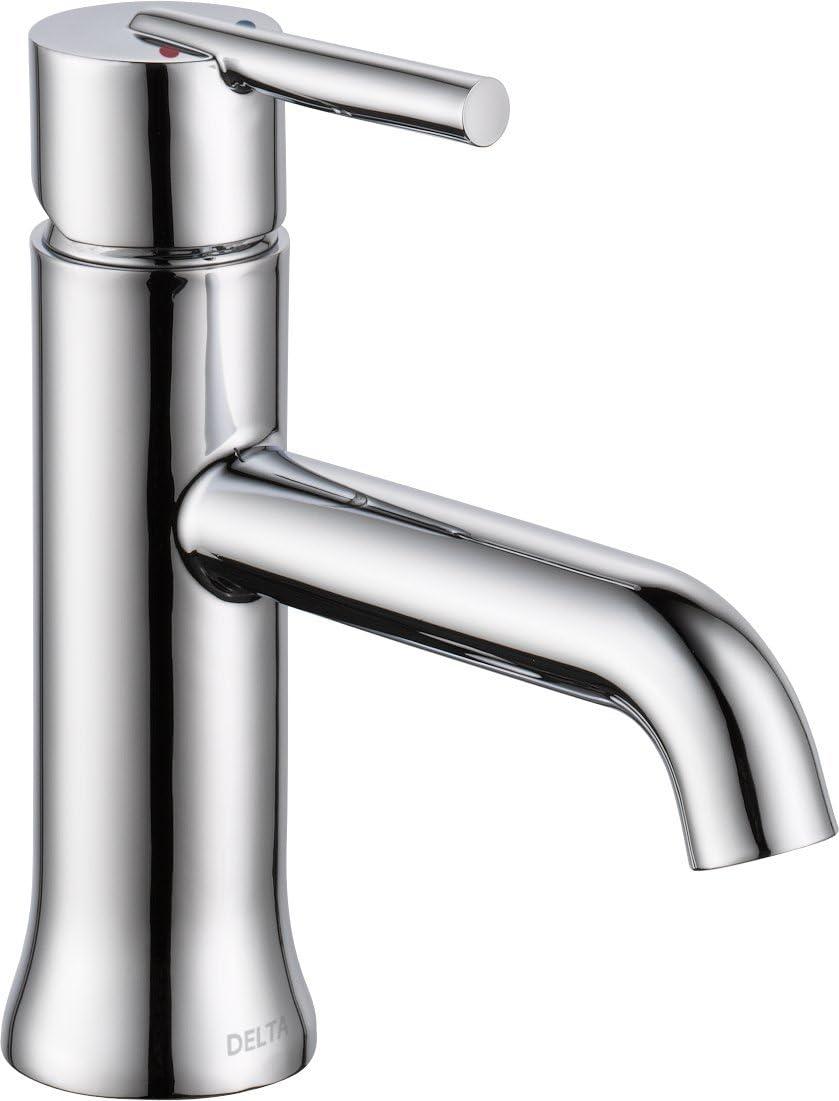 Delta Faucet Trinsic Single Hole Bathroom Faucet, Single Handle Bathroom  Faucet Chrome, Bathroom Sink Faucet, Chrome 20LF LPU
