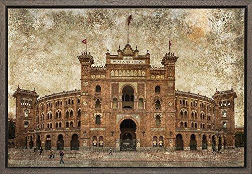 Cuadro enmarcado - Cuadro de la Plaza de toros de las Ventas de Madrid - Fotografía artística y moderna de alta calidad - Listo para colgar - Hecho a mano en España (40_x_60_cm)
