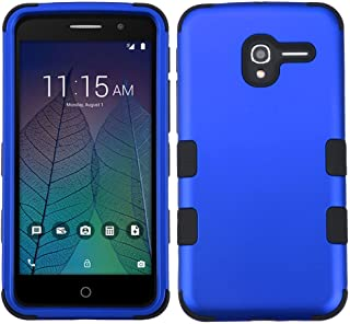 MyBat Cell Phone Case for ALCATEL Stellar, ALCATEL 5065 (Tru) - Titanium Dark Blue/Black