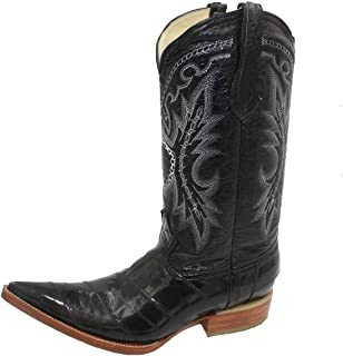 Men 3X-Toe Genuine EEL Skin Leather Western Cowboy Boot